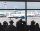 British Airways' first non-stop flight from Gatewick, London to Denver International Airport pulls...