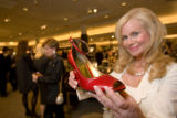 (Denver, Colo., Oct. 17, 2007) Annabel Bowlen with a Linea Paolo shoe.  Nordstrom Cherry Creek...