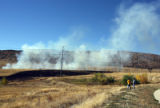 West Metro Firefighters during a prescribed burn of a section of  the Robert A. Easton Regional...