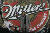 Norman Adami, President and CEO of Miller Brewing Co., welcomes those attending during opening...