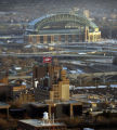 MILLER, BIZ, PHELPS, 4 OF MANY.-Miller Brewing company is shown with Miller Park in the background...