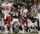 (DENVER, COLO., SEPTEMBER 12, 2004) - Denver Broncos' #24, Champ Bailey and #31, Kelly Herndon...
