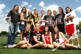All-Colorado girls lacrosse team at Englewood High School, Wednesday May 30, 2007.  (AHMAD TERRY/...