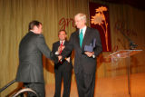 Mr. Pat Hamill (left) accepts 2007 Champion of Youth Award from Steve McConahey (right) while Rep....