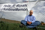 DLM1769  Brian Rohrbough stands in front of the future Columbine Memorial being built at Robert F....