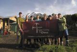 Kilimanjaro 2007 by Shawn 106: Our team on Kilimanjaro in February with Jim Doenges at far left...