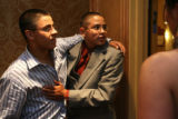 Jose Fernandez, cq, 17, hugs his god brother, eighth-grader, Jose Cruz Fernandez, cq, 14, before...