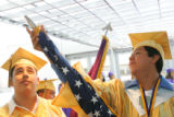 (from left) Tomas Hidalgo (cq), and North High School Valedictorian, 18 year-old Juan Manuel...
