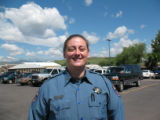 Shauna Swale,CQ,, 37. She's been with the CSP for seven years. She is the only female trooper in...