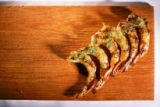 Shrimp.  Fish from the Bonefish Grill in Littleton on May 22, 2007 for Food story.  The model for...