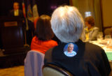 (8/30/04, New York, NY)  Sue Bozek, the wife of delegate John Bozek, plastered a Coors sticker on...