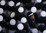 MJM467  Air Force Academy cadets prepare to enter Falcon Stadium Wednesday May 30, 2007 in...