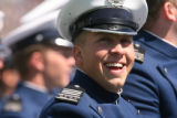 MJM559  Air Force Academy cadet, Joe Halpern (cq), 22, of Camden (cq), New Jersey laughs Wednesday...