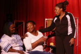Coco Brown, cq, Hazel Miller, cq, and Shelly Lindsey, cq, rehearse Wednesday May 30, 2007, for a...