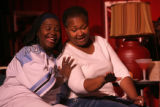 Coco Brown, cq,  and Hazel Miller, cq, (lt-rt) sing during rehearsal Wednesday May 30, 2007, for a...