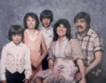 DLM6535  The last family photograph taken in 1980 of Don Gabel with his wife, Kae, and three...