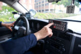 (NYT1) NEW YORK -- June 14, 2007 -- NY-POLICE-SIRENS-2 -- New York Highway Patrol officer Spiros...