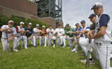 DLM0300  The 2007 Rocky Mountain News All-Colorado baseball team at Coors Field Sunday, June 3,...