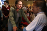 (NYT25) GRINNELL, Iowa -- June 17, 2007 -- CAMPAIGN-EDWARDS-3 -- Elizabeth Edwards, the wife of...