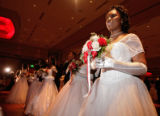 (Denver, Colo., June 2, 2007) Jaleesa McIntosh and the other debutantes and escorts face the...
