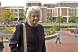 Former U.S.Supreme Court Justice, Sandra Day O'Connor, arrives at the D U Sturm College of Law,...