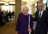 Former U.S.Supreme Court Justice, Sandra Day O'Connor, left, and Dean of Law at DU, Jose Juarez...