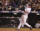 [6353]  Colorado Rockies Brad Hawpe hits a solo home run in the seventh inning of Game 4 of the...