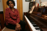 Pensal McCray (cq) is at her emotional best in and around the piano. She is in her home on Monday...