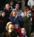 Happy parents and students during the grand re-opening for Weber Elementary school in Arvada...