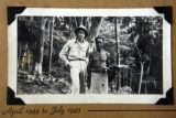 87-year-old Benny hensen (cq) poses for a portrait in 944 with a Papua New Guinea native when he...