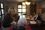 (from left) Carol Siegrist (cq), a volunteer nurse at the Centura Adult Day Care center in south...