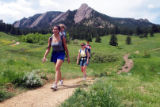 May 27, 2003 - Boulder Colo -Danielle Stoller with her son Tristan, 2,  left and Sarah Rockhold...