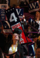 (9/1//04, New York, NY) A girls strains to see Dick Cheney addressing the RNC Wednesday night. ...