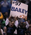 [EPS101] Young Detroit Lions fans hold up a sign cheering on the Bailey brothers Bronco corner...