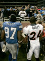 1360 Denver Broncos Champ Bailey and his brother Detroit Lions Boss Bailey pose for a picture...