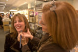 (Denver, Colo., Oct. 17, 2007) Theresa Hague of Denver gets special treatment from Susan Abelman,...