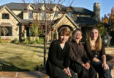 Amanda, 18, Nicole, 16, and Alex, 13, Wissmann, left to right, in front of their house, Thursday...