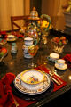 A complete holiday setting on the kitchen table in Wissmann's house, Thursday afternoon, November...