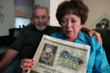 Veronica Baca (cq) with her husband Carlos Baca (cq)  next to her in their Lakewood home Monday...
