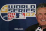 Colorado Rockies manager, Clint Hurdle, speaks to the media during press conference, Tuesday Oct....