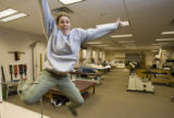 DM0344   Janice Armstrong, 28, of Westminster jumps for joy because she was one of the successful...