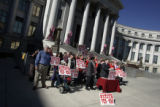Mason Tvert held a press conference in front of the City and County Building in Denver, Wednesday,...