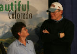 DM0337   Colorado's first Powerball jackpot winners Stanislawa and Eugen Markiewicz stand...