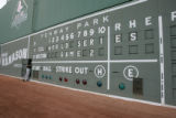 [883] Colorado Rockies Jason Hirsh, cq, looks around at the writing on the wall Thursday Oct. 25,...