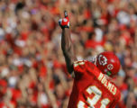 MIKE RANSDELL/The Kansas City Star _100205 The Chiefs' Priest Holmes celebrated a touchdown...