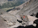 HO025  Photographs pulled off of Sheila Townsend's camera from her hike up Long's Peak, during...
