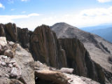HO027  Photographs pulled off of Sheila Townsend's camera from her hike up Long's Peak, during...