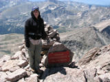 HO029  Photographs pulled off of Sheila Townsend's camera from her hike up Long's Peak, during...
