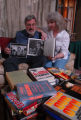 Dennis Nelson and Denise Nelson poses at his Bethesda MD home with Dennis' aunt Irma Thomas'...