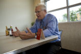 Former Colorado Governor Roy Romer talks to the Rocky Mountain News during an interview in Des...